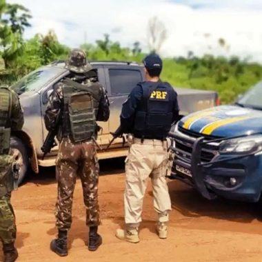 Caminhonete tomada em assalto é recuperada a caminho da Bolívia