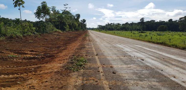 Regional do Departamento de Estradas de Rodagem faz serviços de manutenção das ROs 133 e 455