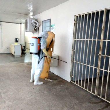 Hospital de Base e João Paulo II estão sendo desinfetados com monopersulfato de potássio para conter o coronavírus