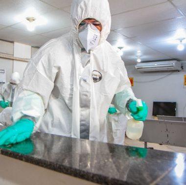 Central de Flagrantes em Porto Velho é desinfectada contra o coronavírus