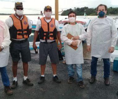 Agevisa realiza barreiras sanitárias de enfrentamento à Covid-19 na entrada fluvial de Porto Velho