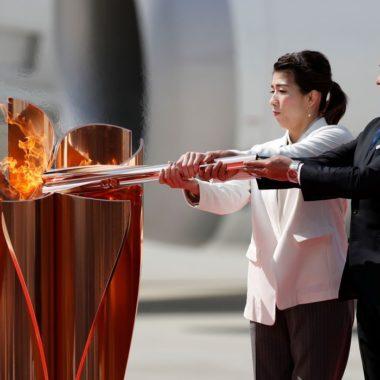 Tocha olímpica ficará exposta em cidade atingida por terremoto