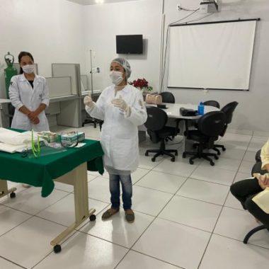 Hospital de Base realiza treinamentos com os profissionais de saúde sobre utilização correta dos EPIs no enfrentamento ao coronavírus