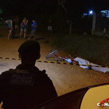 Homem é executado a tiros em, enquanto transitava de bicicleta