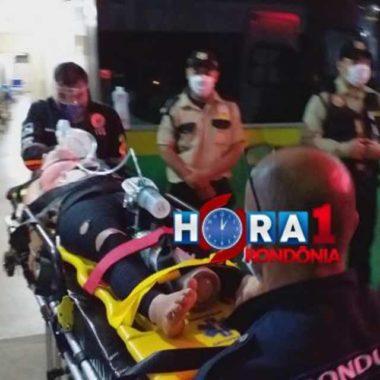 Mulher fica em estado grave após ser atropelada na cabeceira da ponte do Rio Madeira