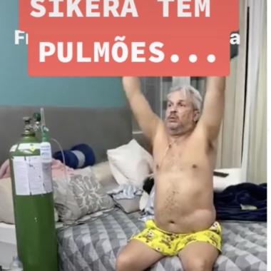 Sikêra Júnior mostra em rede social que está bem e com pulmões 100% recuperados – VÍDEO