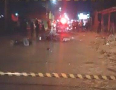 Dois motociclistas colidem frontalmente e morrem no local do acidente