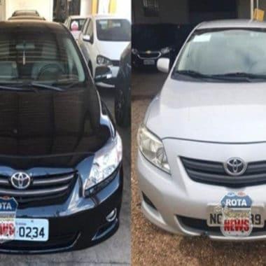 PM age rápido e recupera veículos que foram furtados em concessionária