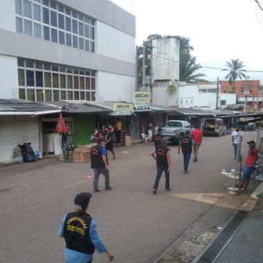 Ambulantes são retirados do centro de Porto Velho por ordem do MP