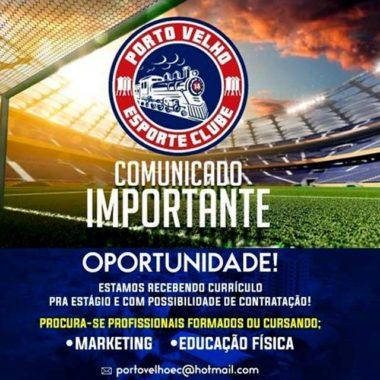 Porto Velho abre oportunidade para profissionais de Marketing e Educação Física