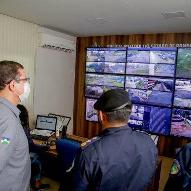 Atuação da Polícia Militar no combate à Covid-19 é destacada pelo governador em Cacoal