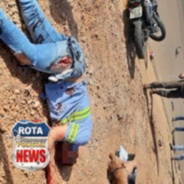 Motociclista fica em estado grave após colisão frontal contra camionete
