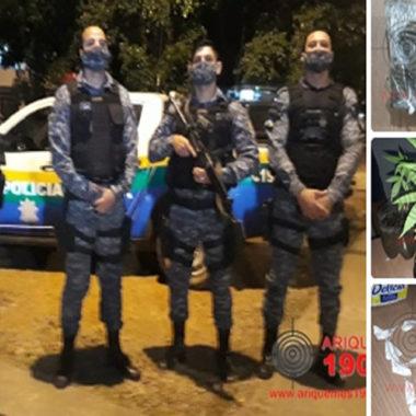 Maconha, Cocaína e 12 pés de Canabis foram apreendidos pela Força Tática