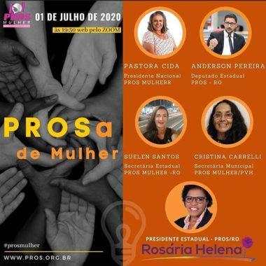 PROS-RO discute participação das mulheres na política e mecanismos de combate a violência doméstica; reunião teve participação do deputado Anderson
