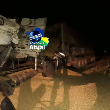 Carreteiro morre em colisão frontal na Br-364, entre Jaru e Ariquenes