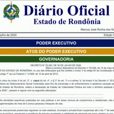 Aulas presenciais da rede pública e privada permanecem suspensas até início de setembro em Rondônia