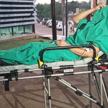 EM SERVIÇO – Vigilante se fere com tiro acidental ao manusear arma de fogo