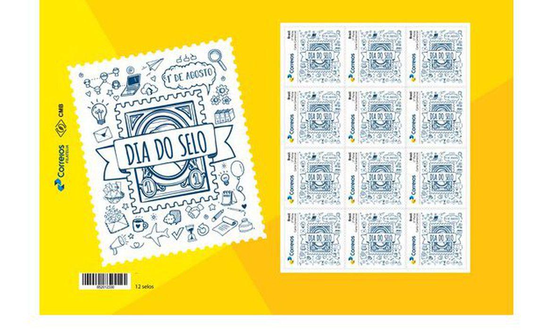 Correios lançam selos comemorativos inspirados em doodles