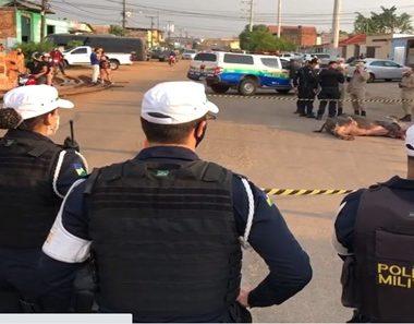 Búfalo é abatido pela PM após atacar moradores no bairro Nova Porto Velho