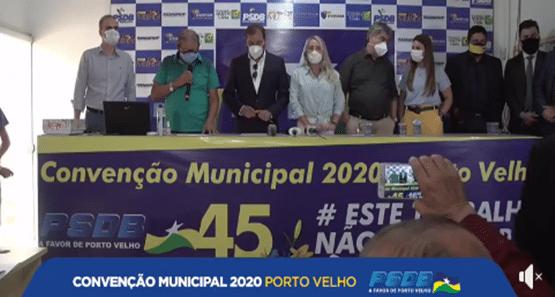 Convenção define Hildon Chaves como candidato a reeleição em Porto Velho