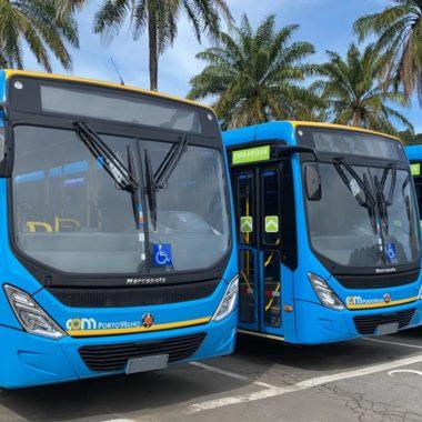 Novos ônibus do transporte coletivo chegam em Porto Velho