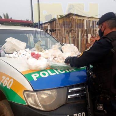 Equipe do sargento Gusmão prende traficante e apreende drogas em galinheiro