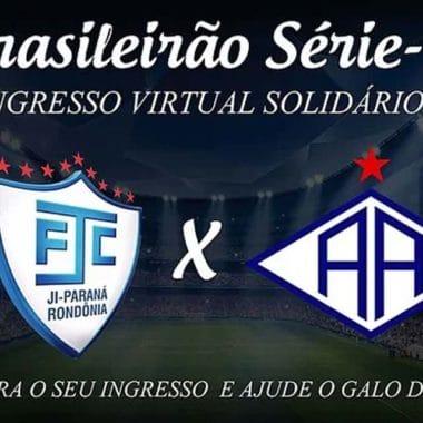 Ji-Paraná lança ingresso solidário para Série D do Brasileirão
