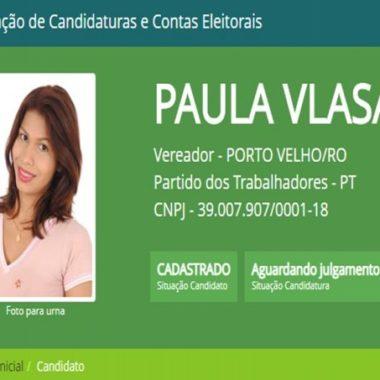 TRANS – Paula Vlasak é candidata a vereadora pelo PT em Porto Velho