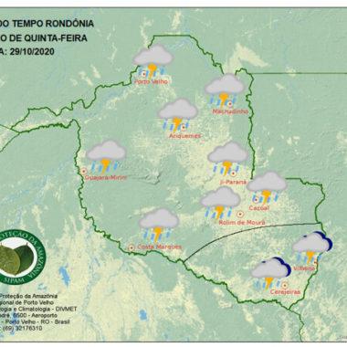 Friagem de forte intensidade chega ao Estado nesta quinta, diz Sipam