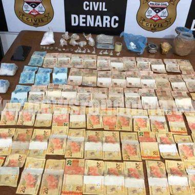 Denarc prende casal por tráfico de drogas no distrito de Triunfo