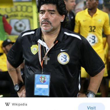 URGENTE: Diego Armando Maradona morre aos 60 anos