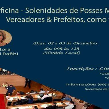 GRATUITO: Inscrições abertas para a oficina Solenidades de Posses Municipais
