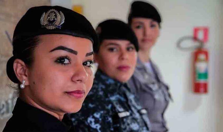 Mulheres aumentam sua participação na PM e diminuem na Polícia Civil