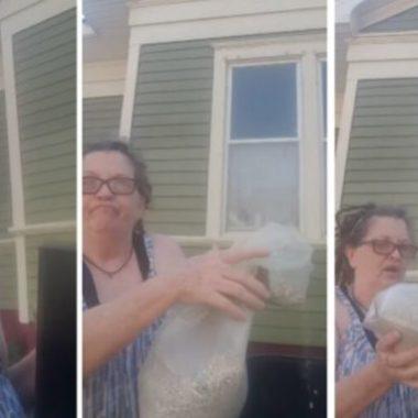 """Viúva revoltada joga as cinzas do marido no lixo """"Meu Deus como você fede"""" ; veja vídeo"""