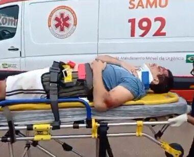 URGENTE – Motocicleta fica destruída em colisão na Avenida Calama