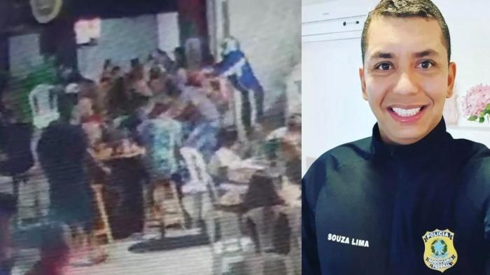 Câmera de segurança flagra o momento em que o jovem Eduardo, PRF de Rondônia, foi assassinado a sangue frio; assista