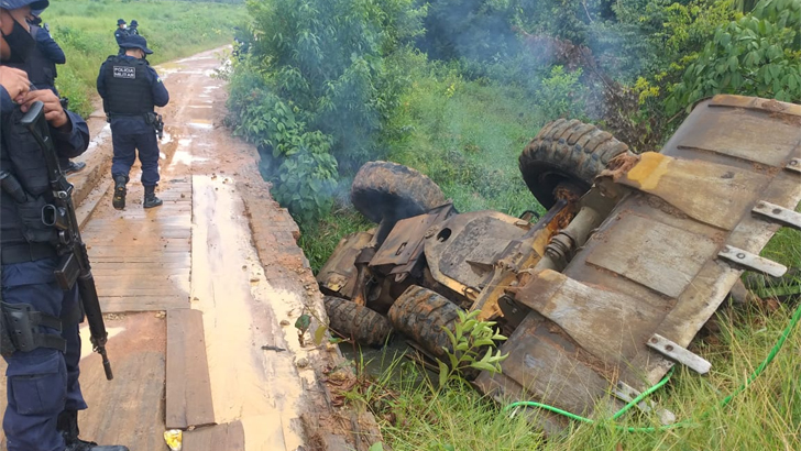 Bandos Armados voltam a invadir terras na região de Campo Novo com disparos de armas e depredação de patrimônio