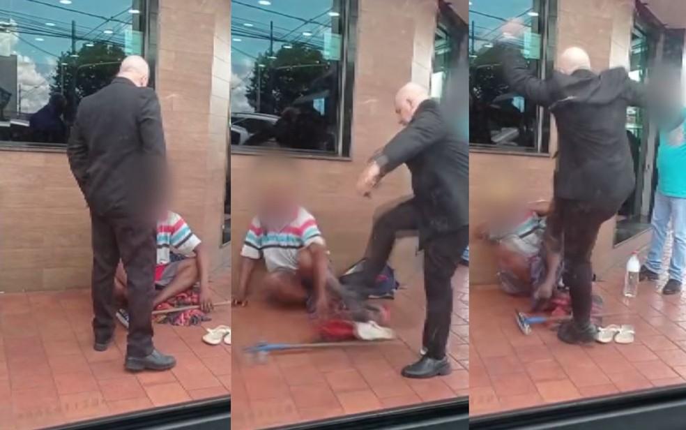 Revoltante: homem é agredido a chutes por supervisor de churrascaria